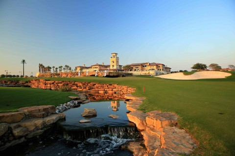 18th hole, Earth Course, Jumeriah Golf Estates