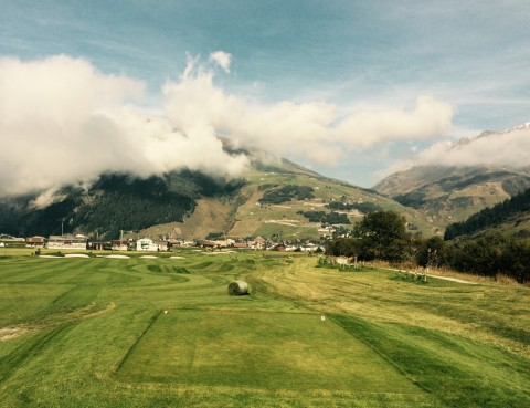 18th tee at Andermatt Swiss Alps
