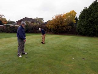Golfers took to the course for one last time on November 3, although there were no flags to aim at