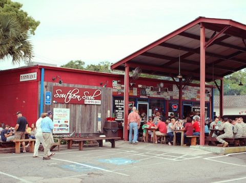 Davis Love III's Southern Soul BBQ shack is a popular dining option for Sea Island visitors