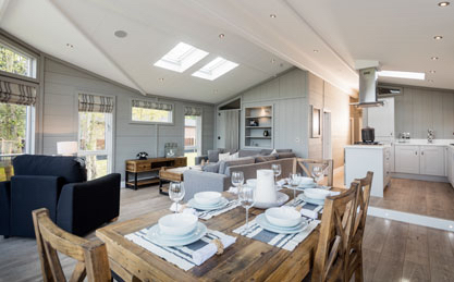 The lodges at The Lakes at Far Grange are individually designed to a very high standard