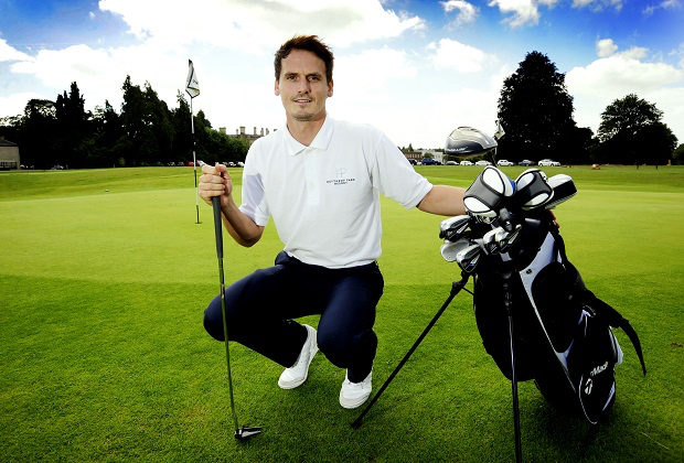 Heythrop Park. Oxfordshire 17/7/14 Professional football player, Jamie Cook, now turns golf professional. Picture by: Copyright: David Fleming