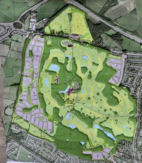 Plans have been drawn up to build over 1,000 homes, a 142-bed hotel and a golf course at Hulton Park near Bolton