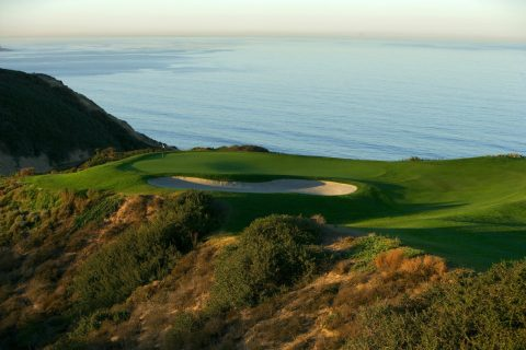 The majestic par-3 third hole on the South Course