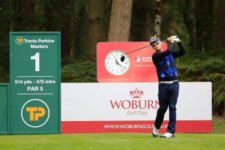 golding on first tee