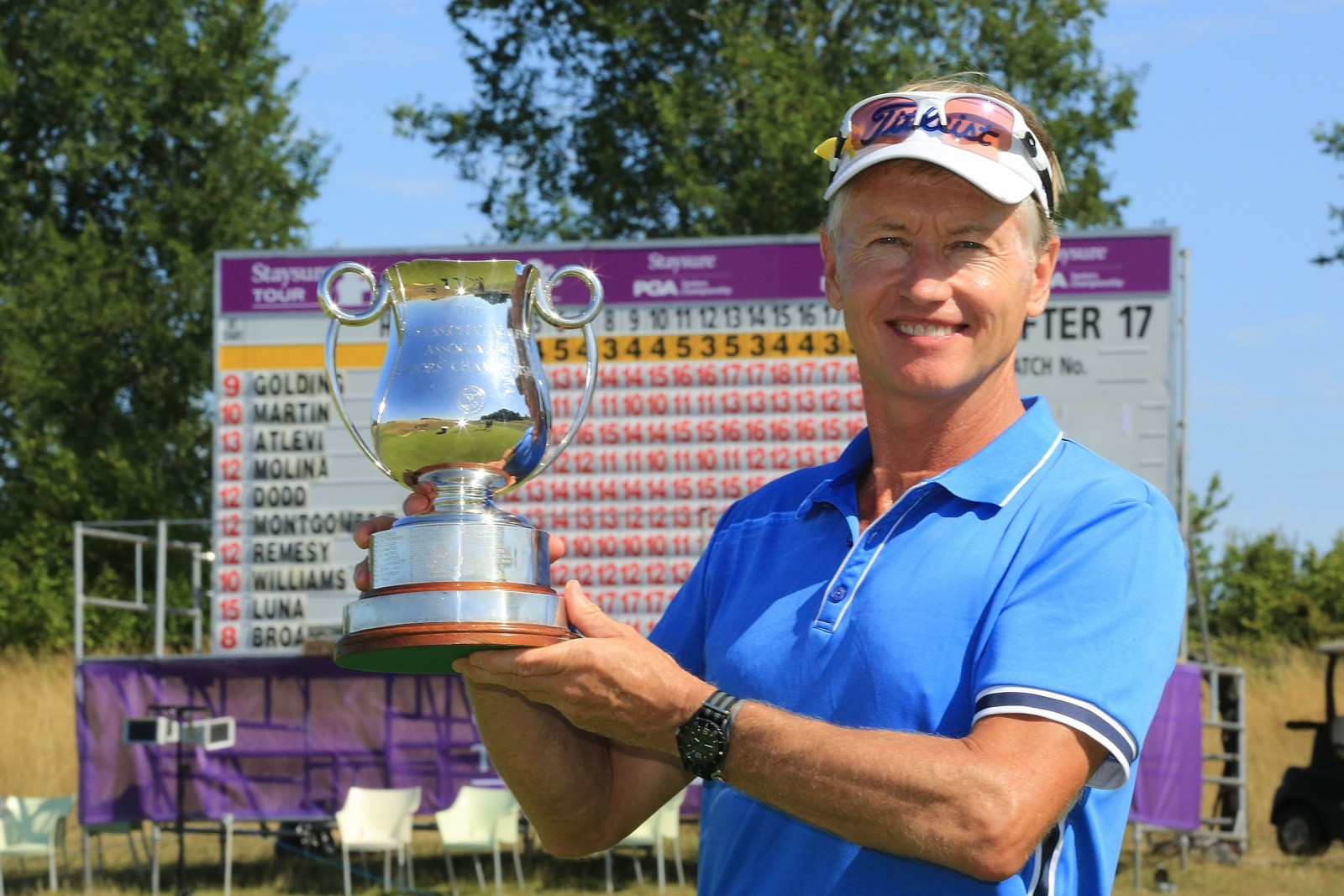 Phil Golding will be back to defend his Senior PGA title in August